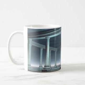 Drowned Greek Temple Ruin in the Moonlight Coffee Mug