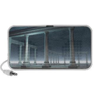 Drowned Greek Temple Ruin in the Moonlight Portable Speaker