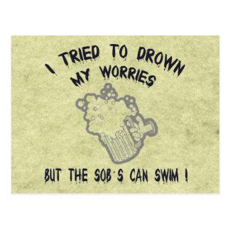 Drowned Worries Postcard