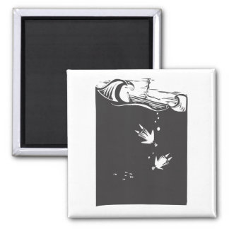 Drowning 2 Inch Square Magnet