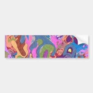 """Drowning"" Abstract Art Bumper Sticker"