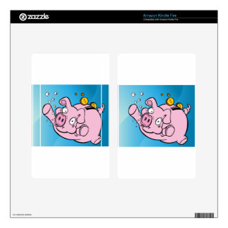 Drowning Piggy Bank Underwater Decal For Kindle Fire