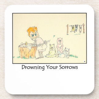 Drowning Your Sorrows Cork Coasters