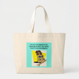 drowning your troubles tote bags
