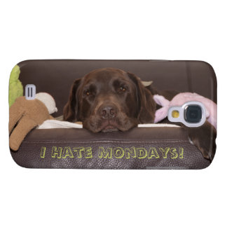 Drowsy Chocolate Lab With Toys Samsung Galaxy S4 Cover