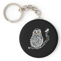 Drowsy Owl Keychain