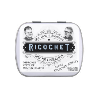 Drs. Long & Robinson Ricochet Cure for Liberalism Jelly Belly Candy Tin