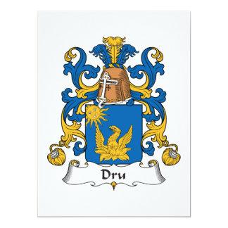 Dru Family Crest Card