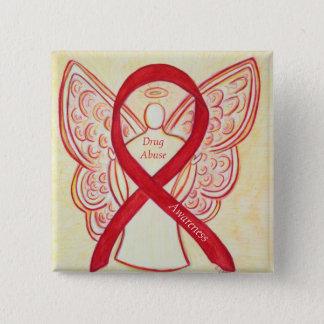 Drug Abuse Awareness Red Ribbon Angel Custom Pins