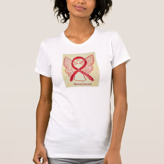 Drug Addiction Awareness Red Ribbon Angel Shirt