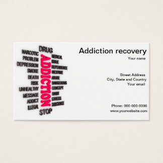 Drug addiction recovery business card