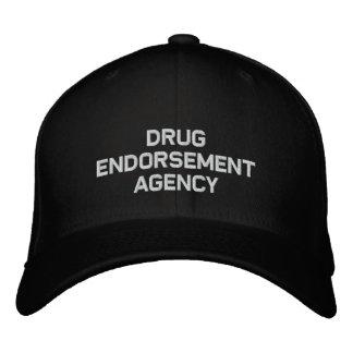 Drug endorsement agency embroidered hat