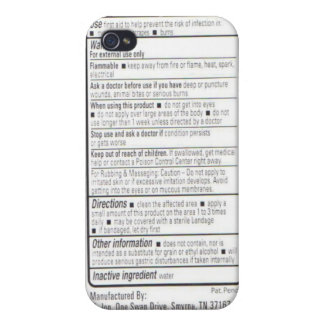 Drug Facts iPhone 4/4S Case