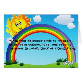 Drug fiend's rainbow card