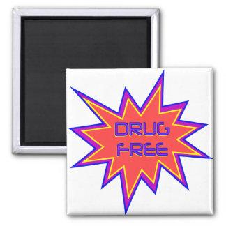 Drug Free 2 Inch Square Magnet