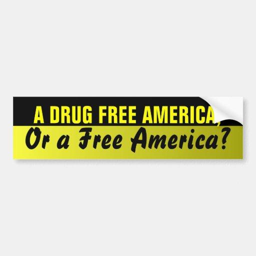Drug Free America Bumper Sticker