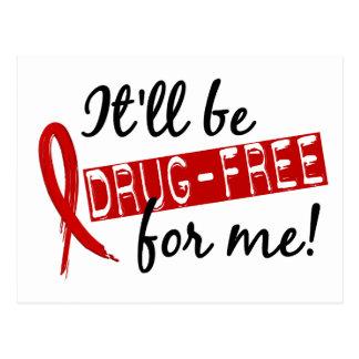 Drug Free For Me 2 Postcard