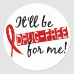 Drug Free For Me 2 Sticker
