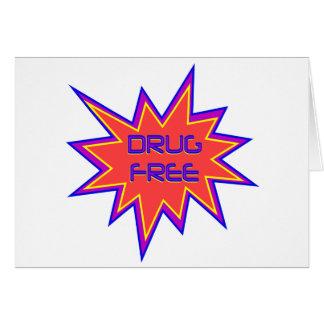 Drug Free Greeting Card