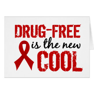 Drug-Free Is The New Cool Greeting Card