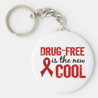 Drug-Free Is The New Cool Key Chain