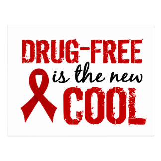 Drug-Free Is The New Cool Postcard