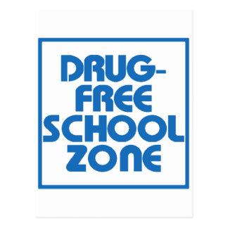 Drug-Free School Zone Sign Postcard