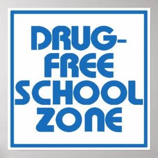 Drug-Free School Zone Sign Print