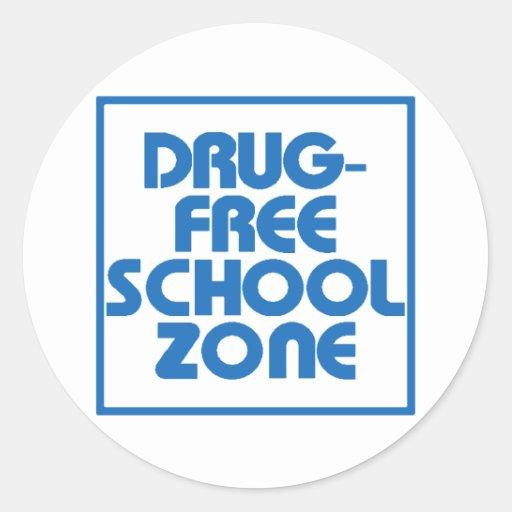 Drug-Free School Zone Sign Stickers