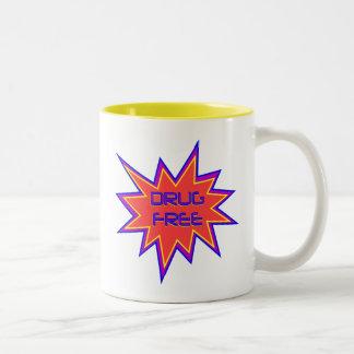 Drug Free Two-Tone Coffee Mug