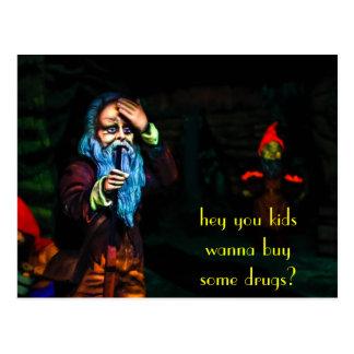 drug gnome postcard