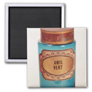 Drug Jar, with label for Anis Vert, c.1860 2 Inch Square Magnet