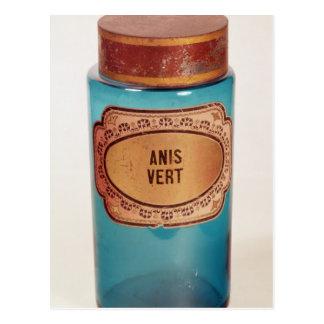 Drug Jar, with label for Anis Vert, c.1860 Postcard