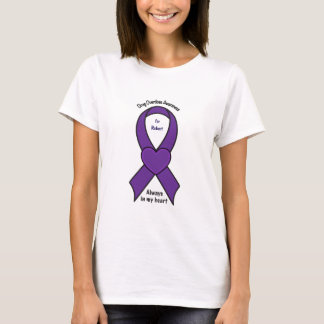 Drug Overdose Awareness Heart Name Customizable T-Shirt