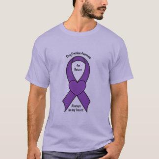 Drug Overdose Awareness Ribbon Name Customizable T-Shirt