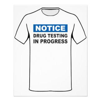 Drug Testing in Progress Flyer