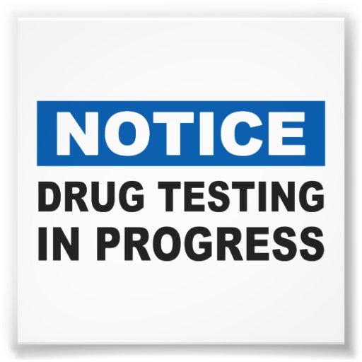Drug Testing in Progress Photograph