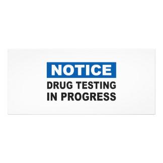 Drug Testing in Progress Rack Card