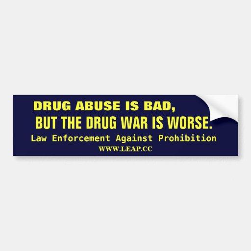 DRUG WAR, LEGALIZE CAR BUMPER STICKER