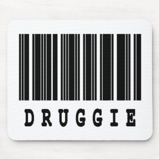 druggie barcode design mouse pad
