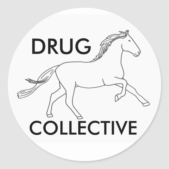 Drughorse Collective 3 Classic Round Sticker