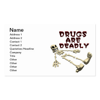Drugs Are Deadly Business Card
