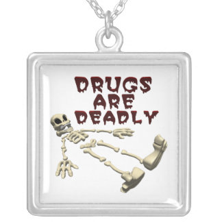Drugs Are Deadly Personalized Necklace
