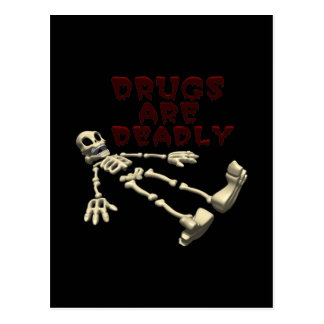 Drugs Are Deadly Postcard