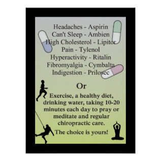 Drugs or Natural Chiropractic Care Poster at Zazzle