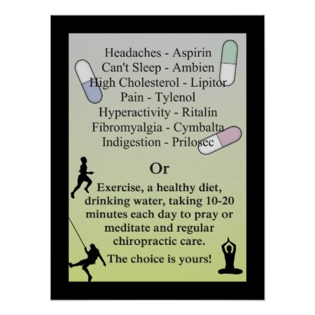 Drugs or Natural Chiropractic Care Poster