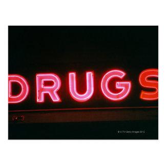 Drugs Postcard