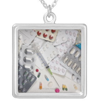 Drugs used in the treatment of medical square pendant necklace