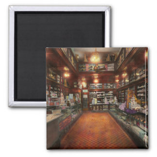 Drugstore - G.W. Armstrong drug store 1913 2 Inch Square Magnet
