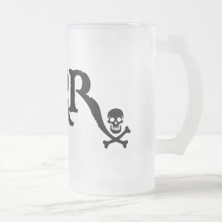 Drugstore Pirate Frosted Glass Beer Mug